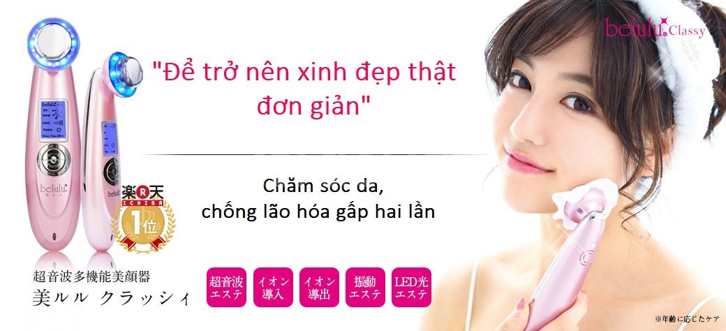 Máy chăm sóc da mặt belulu Classy - đại lý chính thức tại Việt Nam