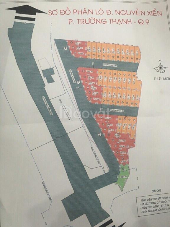 Bán gấp  lô đất Q9 MT đường Nguyễn Xiển, gần KDC mới Q9, gía 1,9 tỷ