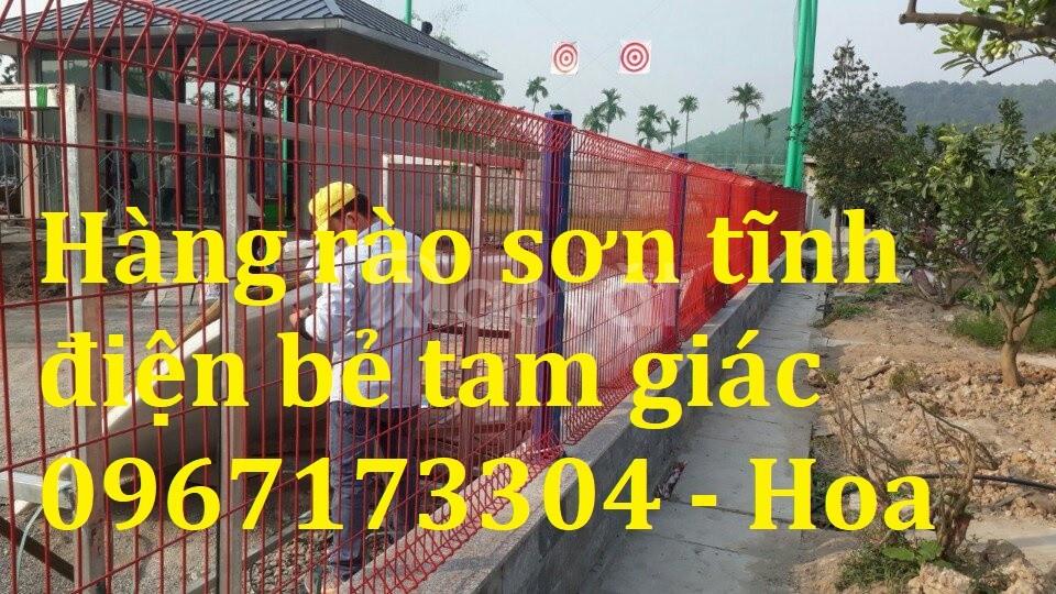Hàng rào lưới thép bẻ tam giác giá rẻ chất lượng cao