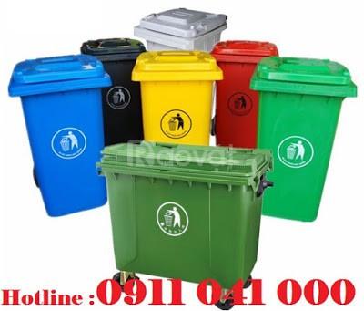 Thùng rác công cộng được làm từ nhựa HDPE thân thiện với môi trường (ảnh 1)