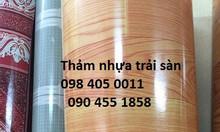 Thảm nhựa vân gỗ trải sàn phòng khách dạng cuộn