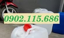Can nhựa 20l, can nhựa 20lit, can nhựa dày, can nhựa đựng hóa chất 20l