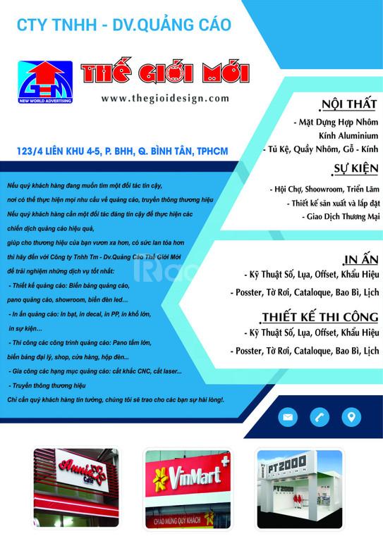 Thi công quảng cáo TPHCM - thế giới mới