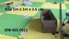 Xốp phòng tập 1m x 1m dày 2.6cm, 2.8cm, 3cm giá rẻ  (ảnh 1)