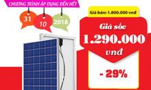 Khuyến mãi tấm pin Poly 100w năng lượng mặt trời