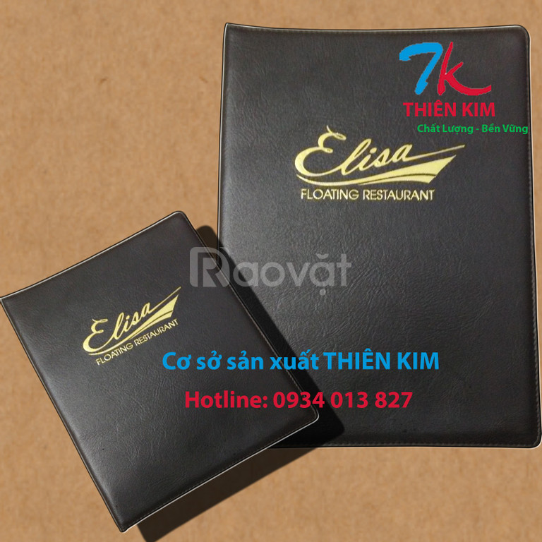 Xưởng may bìa simili, cung cấp bìa menu da, bìa menu nhựa giá rẻ