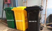 Thùng rác nhựa hdpe 240L thùng rác công cộng 120L giá chỉ 500k/thùng