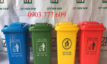 Thùng rác nhựa 60 lít - có bánh xe