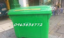Xe đẩy rác 660L - thùng rác nhựa - thùng đựng rác