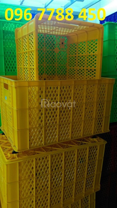Bán rổ nhựa công nghiệp loại lớn giá rẻ toàn quốc (ảnh 4)