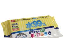 Combo 3 gói giấy ướt Nhật LEC 99% + tặng 1 gói (vàng)