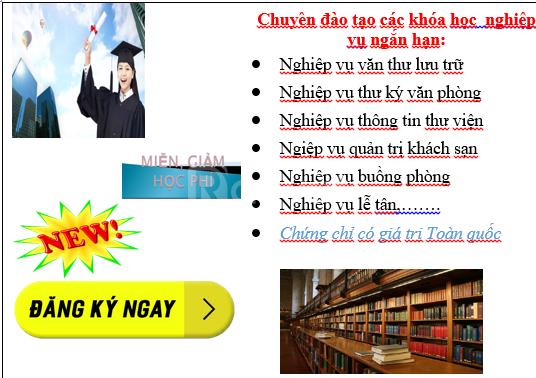 Học chứng chỉ văn thư lưu trữ, địa chỉ học văn thư lưu trữ Đà Nẵng