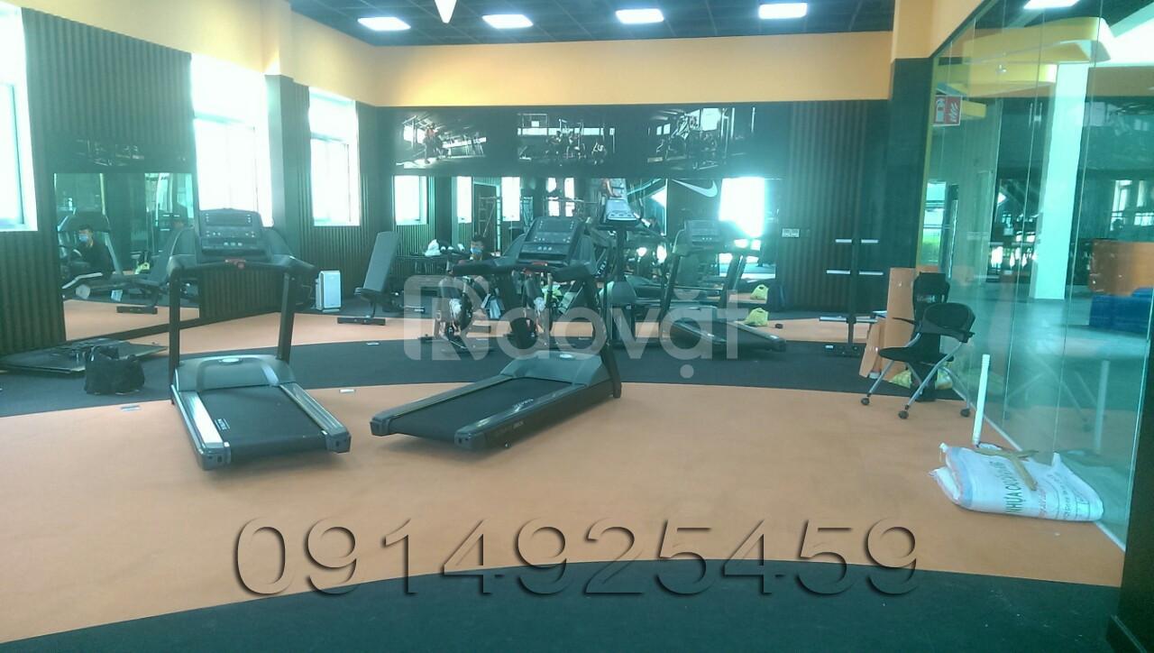 Sàn cao su phòng gym giá rẻ ưu đãi