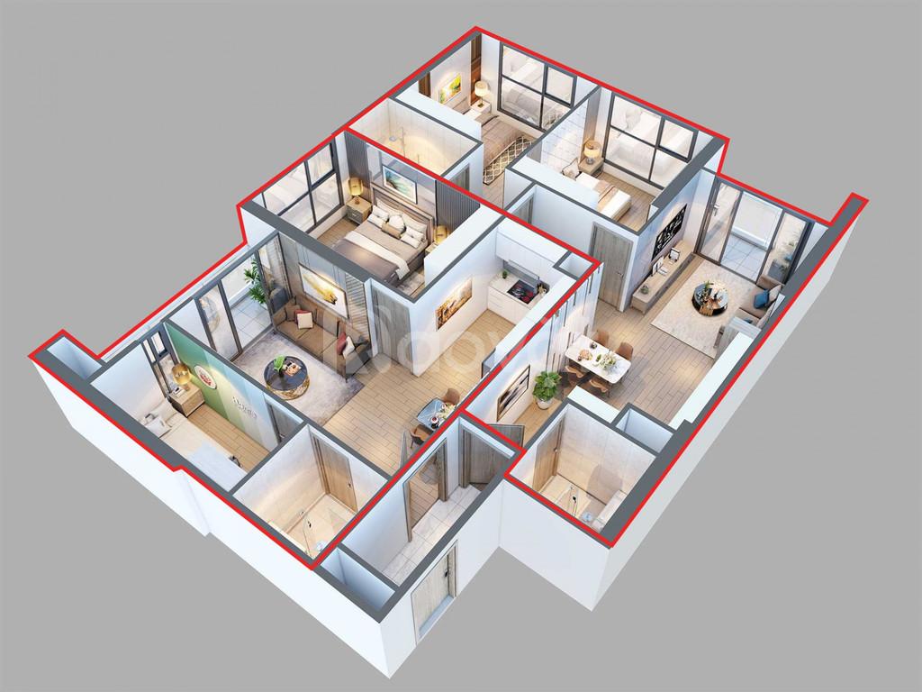 Bán căn hộ 3 phòng ngủ đẹp dự án giá từ 5,13 tỷ/căn (ảnh 5)