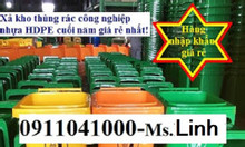 Phân phối bán thùng rác công cộng nhựa HDPE