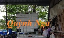 Bồn nhựa 1 khối tại Hà Nội, thùng nhựa 1000l tại Long Biên