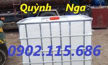 Tank nhựa IBC 1000 lít cũ, thùng nhựa 1000 lít cũ tại Long Biên