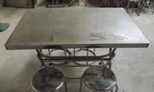 Bàn inox giá rẻ TPHCM, bộ bàn ghế inox giá rẻ, bàn xếp inox giá rẻ