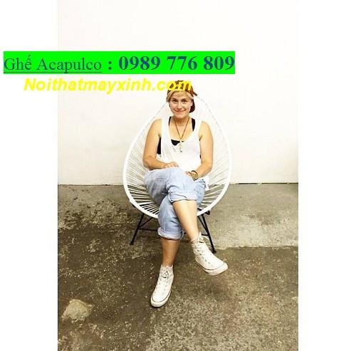 Bàn ghế acapluco giá rẻ, ghế thư giãn acapluco, mẫu ghế ban công nhỏ