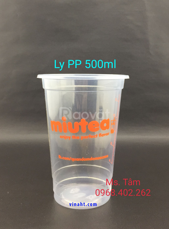 Ly nhựa PP 500ml in 1 màu cam