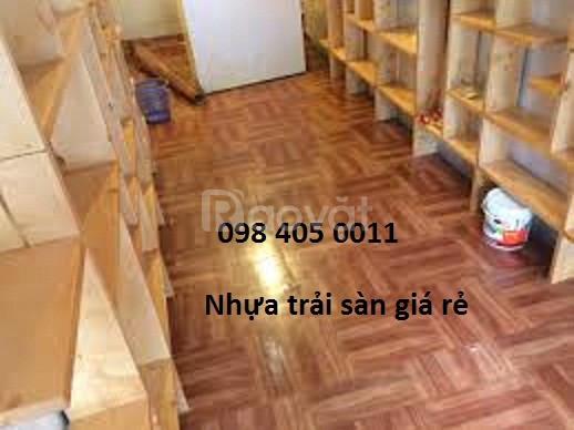 Sàn nhựa giả gỗ văn phòng lớp học giá rẻ