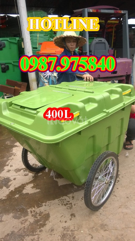 Xe đẩy rác - thùng rác lớn: 400L,660L,1100L giá tốt