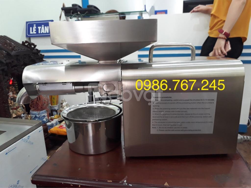 Máy ép dầu lạc gia đình, máy ép dầu công suất 3-6kg/h giá rẻ