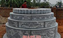 Phong thủy mộ đá tròn, kích thước xậy mộ tròn 2019