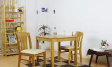 Bộ bàn ăn 2 ghế sang trọng ghế gỗ cao su