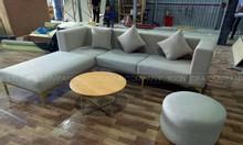 Nhận sản xuất sofa góc cao cấp, khung gỗ tự nhiên