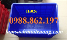 Sóng nhựa bít hs026 thùng nhựa đặc hs026, thùng nhựa đặc giá rẻ
