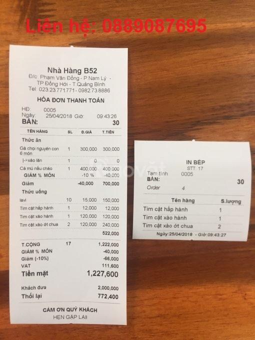 Giấy in hóa đơn giá rẻ cho quán trà sữa tại Phú Yên