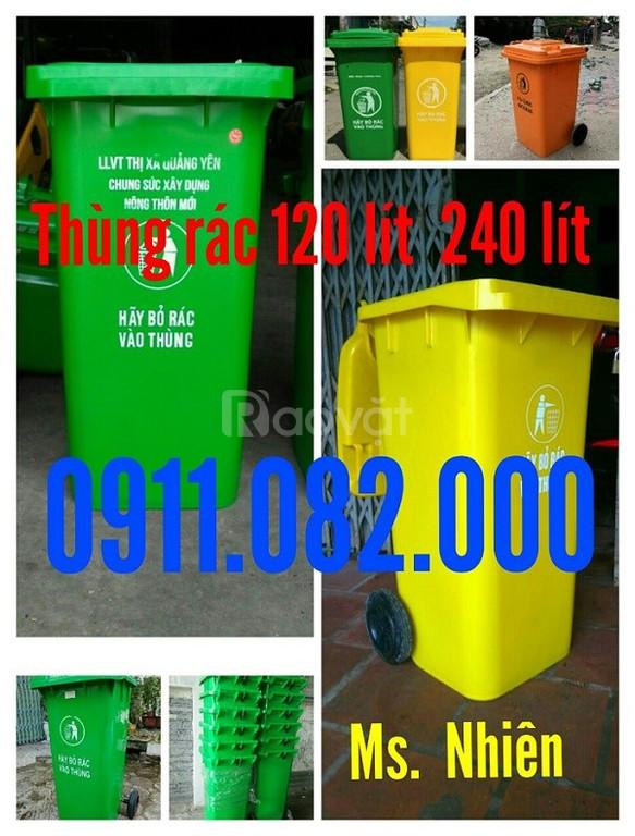 Cung cấp thùng rác giá sỉ - thùng rác 120 lít 240 lít giá rẻ