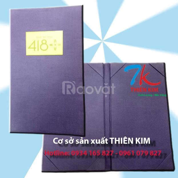 Cơ sở may bìa menu da, bìa da, sổ da, bìa tính tiền, bìa đựng bằng (ảnh 4)