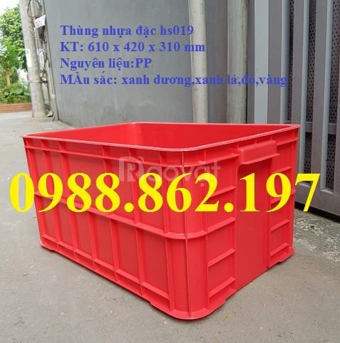 Thùng nhựa đặc hs019, sóng nhựa bít hs019, thùng nhựa, khay nhựa