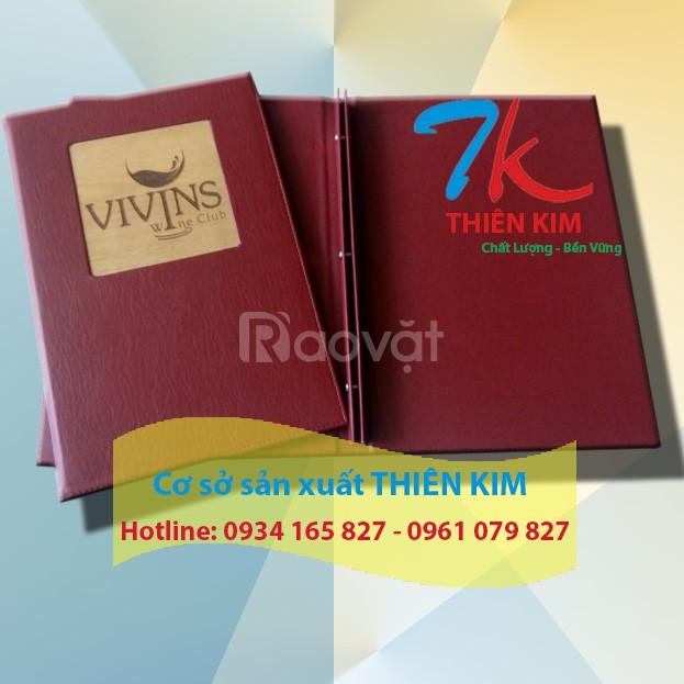 Cơ sở may bìa menu da, bìa da, sổ da, bìa tính tiền, bìa đựng bằng (ảnh 1)