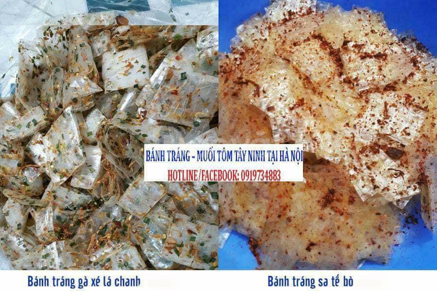 Bánh tráng dẻo Tây Ninh (dẻo tôm, dẻo me, dẻo cay ớt) tại Hà Nội