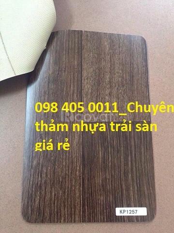 Nhựa trải sàn vân gỗ chống cháy chống trầy xước Korea