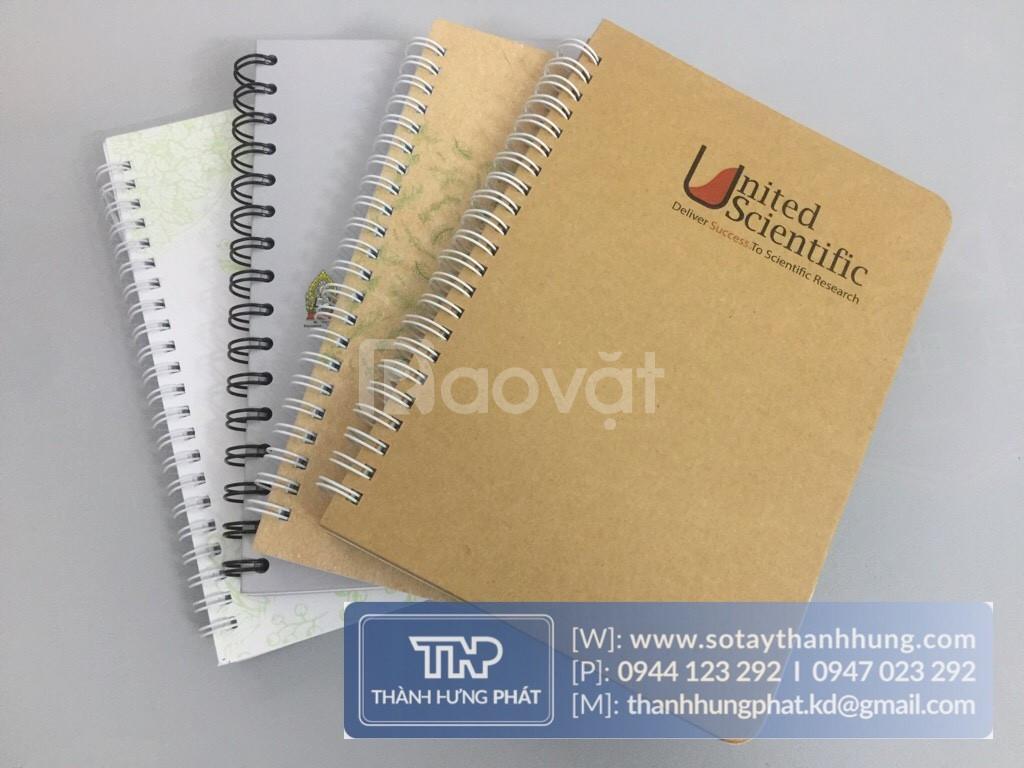 Công ty sản xuất sổ tay cung cấp sổ tay bìa da, Sổ tay lò xo đẹp