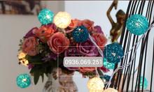 Dây đèn trang trí tiệc cưới đèn bóng mây bộ xanh Tiffany