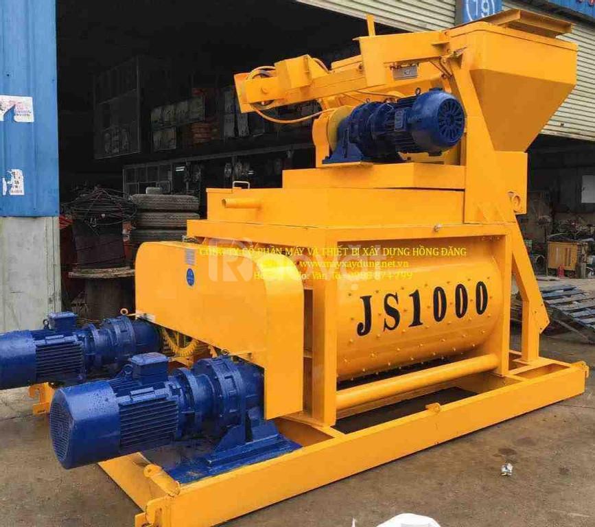Máy trộn bê tông JS750 - lắp trạm trộn 30 - 35m3/h