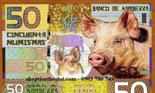 Tiền Kamberra của Úc hình con heo