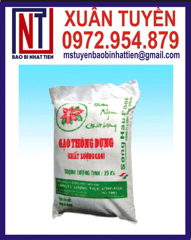 Bao bì gạo giá rẻ, bao PP đựng gạo in ống đồng