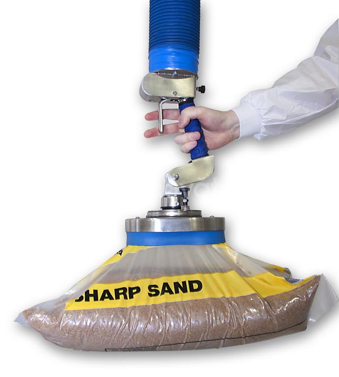 Thiết bị nâng hút chân không dùng di chuyển bao nguyên liệu, thùng car