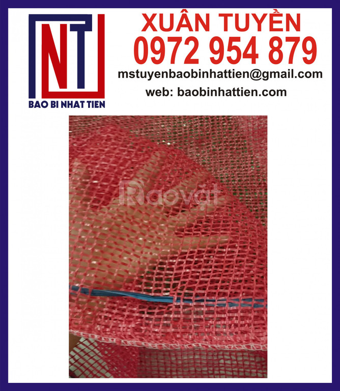 Cung cấp bao lưới leno, bao lưới đỏ