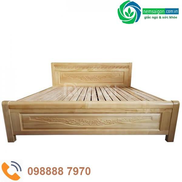 Giường ngủ gỗ sồi nga giá rẻ