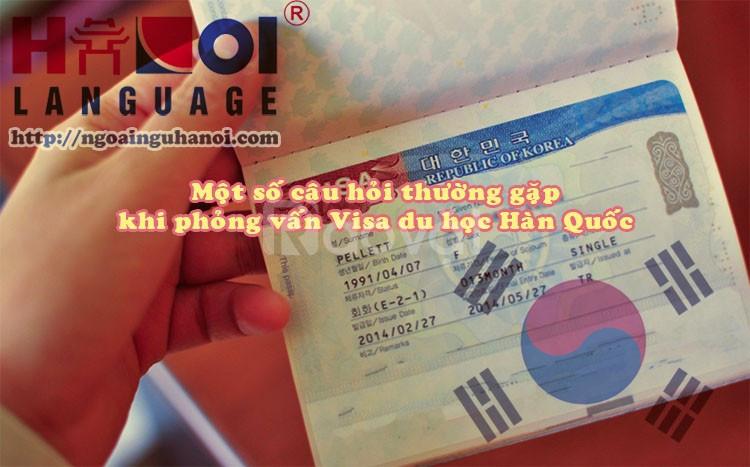 Kinh nghiệm phỏng vấn visa du học Hàn