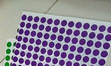 Tem tròn màu 1cm - 3cm, tem mũi tên  tại HCM, HN