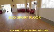Thi công thảm sàn thể thao cho thi đấu đa năng trong nhà