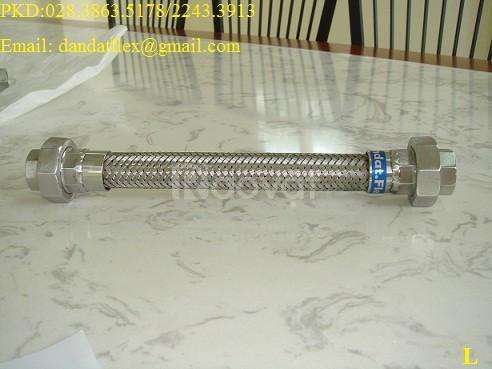 Ống bọc lưới inox, ống mềm inox, khớp nối mềm lắp ren, khớp nối mềm